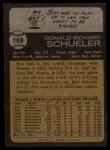 1973 Topps #169   Ron Schueler Back Thumbnail
