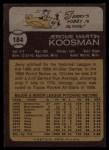 1973 Topps #184  Jerry Koosman  Back Thumbnail