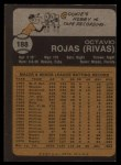 1973 Topps #188   Cookie Rojas Back Thumbnail
