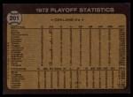 1973 Topps #201   -  George Hendrick / Bill Freehan 1972 AL Playoffs - Hendrick Scores Winning Run Back Thumbnail