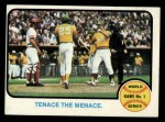1973 Topps #203  1972 World Series - Game #1 - Tenace the Menace  -  Gene Tenace / George Hendrick / Johnny Bench Front Thumbnail