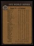1973 Topps #206  1972 World Series - Game #4 - Tenace Singles in Ninth  -  Gene Tenace Back Thumbnail