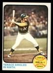 1973 Topps #206  1972 World Series - Game #4 - Tenace Singles in Ninth  -  Gene Tenace Front Thumbnail