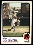 1973 Topps #231   Bill Parsons Front Thumbnail