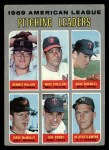 1970 Topps #70 COR  -  Dave Boswell / Muke Cuellar / Dennis McLain / Dave McNally / Jim Perry / Mel Stottlemyre AL Pitching Leaders Front Thumbnail