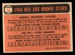 1966 Topps #456  Red Sox Rookies  -  Joe Foy / Darrell Brandon Back Thumbnail