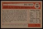 1954 Bowman #30   Del Rice Back Thumbnail