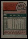 1975 Topps #500   Nolan Ryan Back Thumbnail