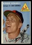 1954 Topps #38  Eddie Stanky  Front Thumbnail