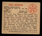 1950 Bowman #248  Sam Jethroe  Back Thumbnail