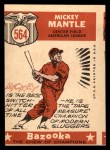 1959 Topps #564  All-Star  -  Mickey Mantle Back Thumbnail