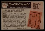 1955 Bowman #77  Jim McDonald  Back Thumbnail