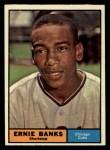 1961 Topps #350   Ernie Banks Front Thumbnail