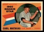 1960 Topps #139  Rookies  -  Carl Mathias Front Thumbnail