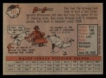 1958 Topps #172  Don Gross  Back Thumbnail