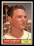 1961 Topps #263 COR Ken Hamlin  Front Thumbnail