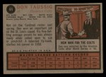 1962 Topps #44   Don Taussig Back Thumbnail