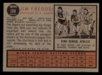 1962 Topps #209   Jim Fregosi Back Thumbnail