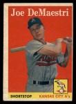 1958 Topps #62   Joe DeMaestri Front Thumbnail