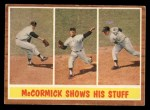 1962 Topps #319  McCormick Shows His Stuff  -  Mike McCormick Front Thumbnail