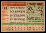 1955 Topps #15  Jim Pendleton  Back Thumbnail