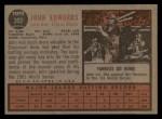 1962 Topps #302   John Edwards Back Thumbnail