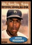 1962 Topps #397  All-Star  -  John Roseboro Front Thumbnail