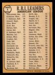 1968 Topps #4  1967 AL RBI Leaders  -  Harmon Killebrew / Frank Robinson / Carl Yastrzemski Back Thumbnail