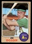 1968 Topps #343   Jim Gosger Front Thumbnail