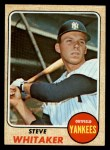 1968 Topps #383   Steve Whitaker Front Thumbnail
