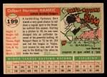 1955 Topps #199   Bert Hamric Back Thumbnail