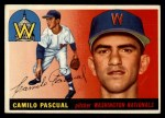 1955 Topps #84  Camilo Pascual  Front Thumbnail