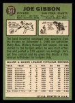 1967 Topps #541   Joe Gibbon Back Thumbnail