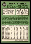 1967 Topps #533  Jack Fisher  Back Thumbnail