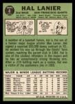 1967 Topps #4   Hal Lanier Back Thumbnail