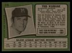 1971 Topps #516   Ted Kubiak Back Thumbnail