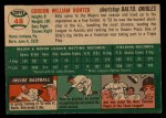 1954 Topps #48  Billy Hunter  Back Thumbnail