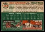 1954 Topps #162  Herm Wehmeier  Back Thumbnail
