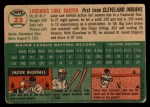 1954 Topps #23   Luke Easter Back Thumbnail