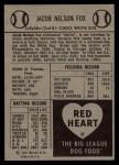 1954 Red Heart #9  Nellie Fox  Back Thumbnail