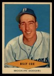 1954 Red Heart #4  Billy Cox     Front Thumbnail
