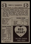 1954 Red Heart #28   Enos Slaughter Back Thumbnail
