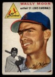 1954 Topps #137  Wally Moon  Front Thumbnail