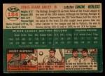 1954 Topps #184   Ed Bailey Back Thumbnail