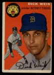 1954 Topps #224  Dick Weik  Front Thumbnail