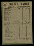 1971 Topps #201  1970 NL Playoffs - Game 3 - Cline Scores Winning Run  -  Ty Cline / Manny Sanguillen Back Thumbnail