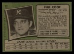 1971 Topps #22      -  Phil Roof Back Thumbnail