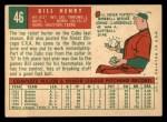 1959 Topps #46   Bill Henry Back Thumbnail