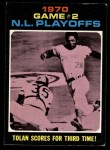 1971 Topps #200  1970 NL Playoffs - Game 2 - Tolan Scores For Third Time  -  Bobby Tolan / Manny Sanguillen Front Thumbnail
