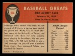 1961 Fleer #104   Bibb Falk Back Thumbnail